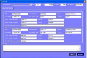 Program pentru imprimarea certificatelor de stare civila